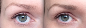 Before and After the Clinique Superfine Brow Liner in Soft Brown