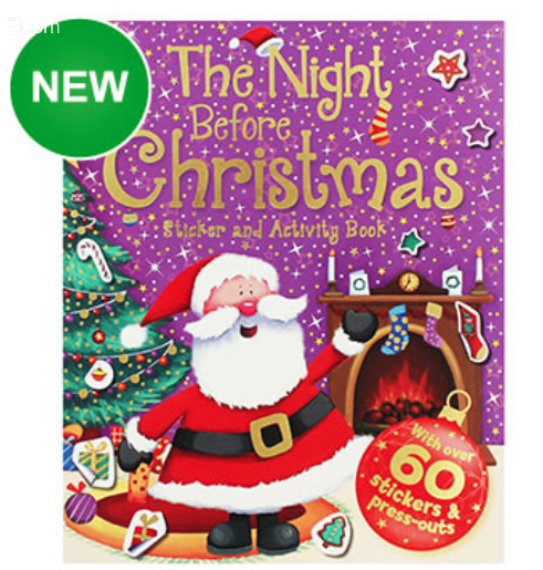 The Night Before Christmas Sticker and Activity Book, 99p