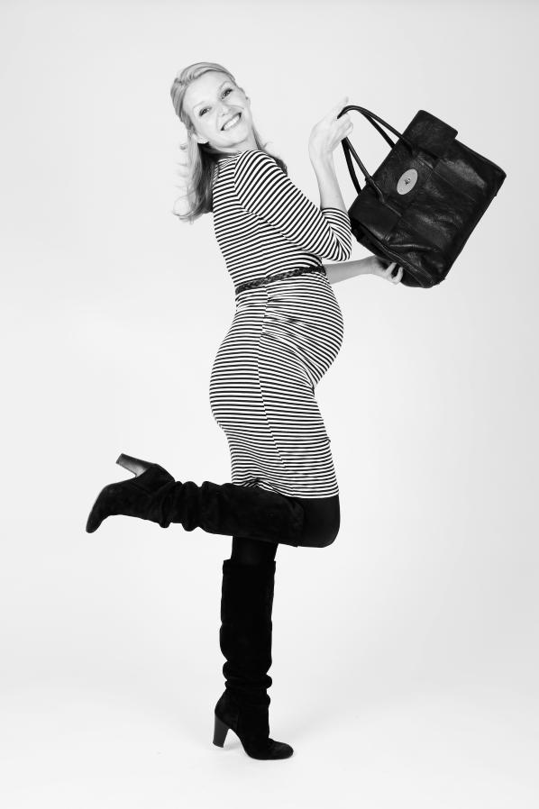 Wearing: JoJo Maman Bébé Striped Rouched Dress